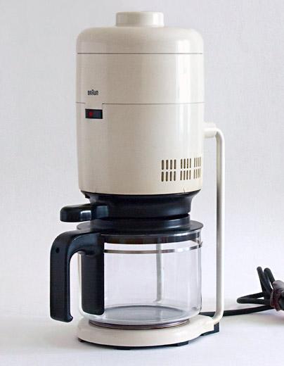 Designer Kaffeemaschine aus meinem braun museum esse est percipi